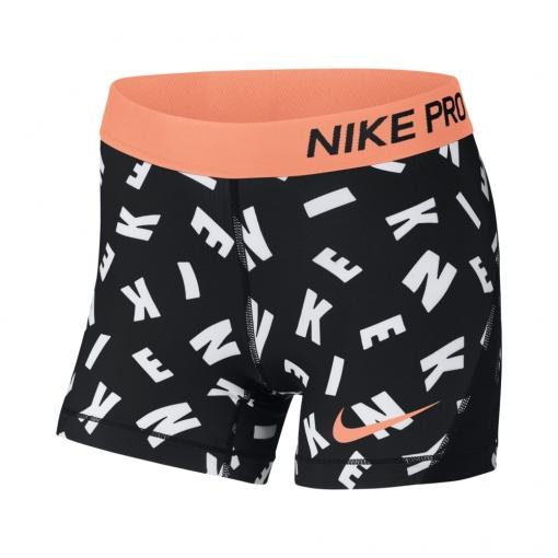 Dívčí kraťasy Nike Pro Training Short AH3951-010 černé s nápisy