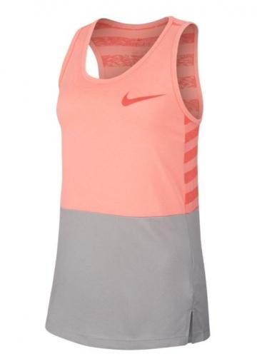 Dívčí tričko / top Girls Nike Dry Training Tank 890291-693 růžovo-šedé