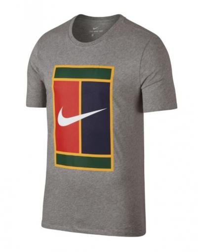Tenisové tričko NikeCourt Tennis T-Shirt 943182-063 šedé