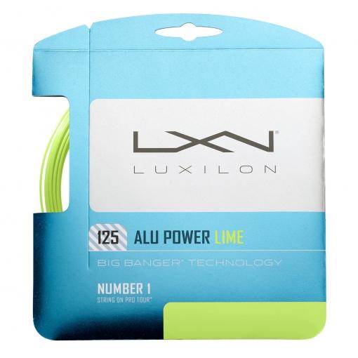 Tennissaite Luxilon ALU Power 125 LIME 12m