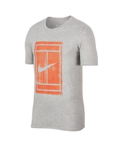 Tenisové tričko Nike Court Tee 913501-063 šedé