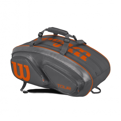 Tennistasche Wilson TOUR V 15 GYOR grau orange