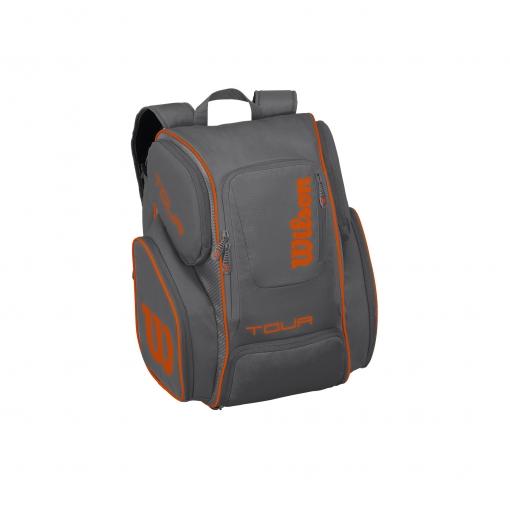 Tenisový batoh Wilson Tour V Backpack Large šedo-oranžový
