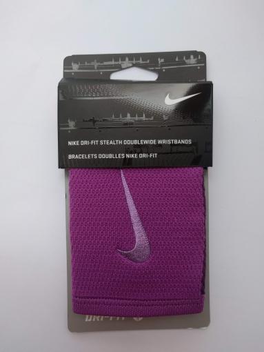 Potítko Nike Dri-Fit Stealth Doublewide fialová