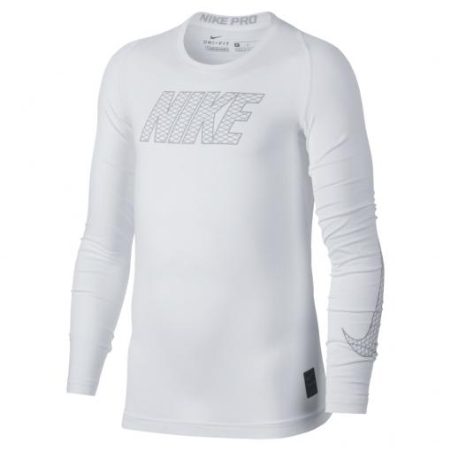 Dětské termotričko Nike Pro Compression 858232-100 bílé