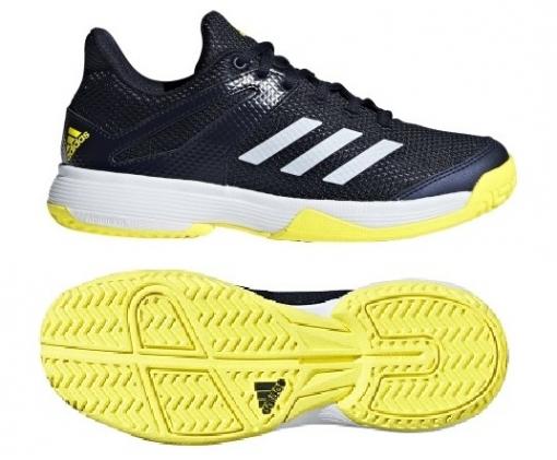 Kinder Tennisschuhe Adidas Adizero Club K BB7942 blau-gelb