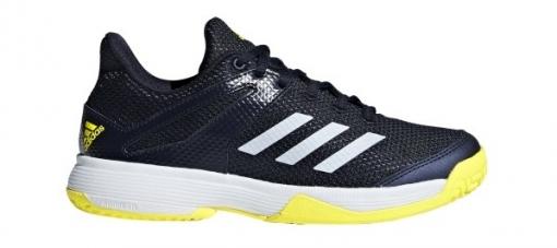 ... Dětská tenisová obuv Adidas Adizero Club K BB7942 modro-žlutá ... 02701eac4a