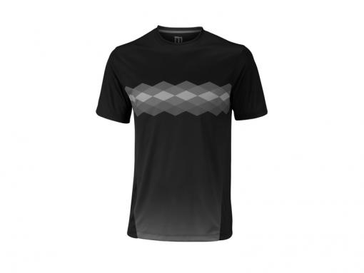 Tenisové tričko Wilson UW Statement Crew Ebony WRA758301 černo-šedé