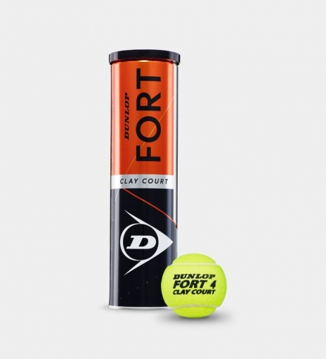 Tenisový míč Dunlop Fort CLAY COURT 4 v dóze