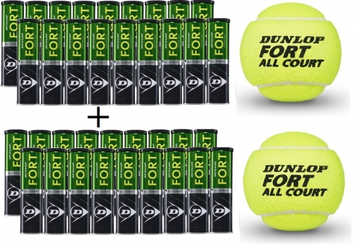 Tenisové míče DUNLOP FORT all court TS 2 kartóny