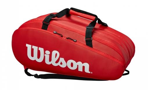 Tenisový bag Wilson TOUR 3 COMP červený