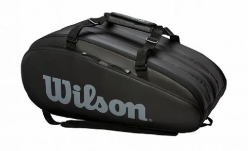 Tennistasche Wilson TOUR 3 COMP schwarz
