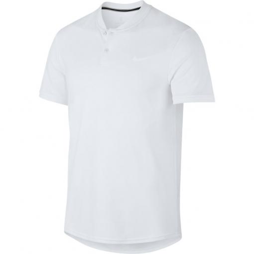 Pánské tričko NikeCourt Dry Tennis Polo AQ7732-100 bílé