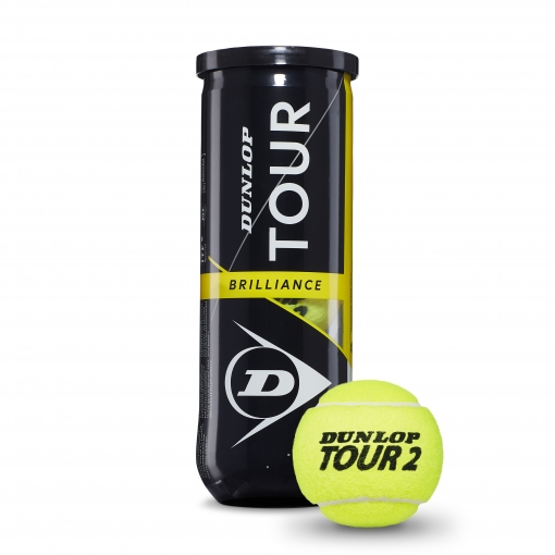 Tenisové míče Dunlop TOUR Brilliance 3 v dóze