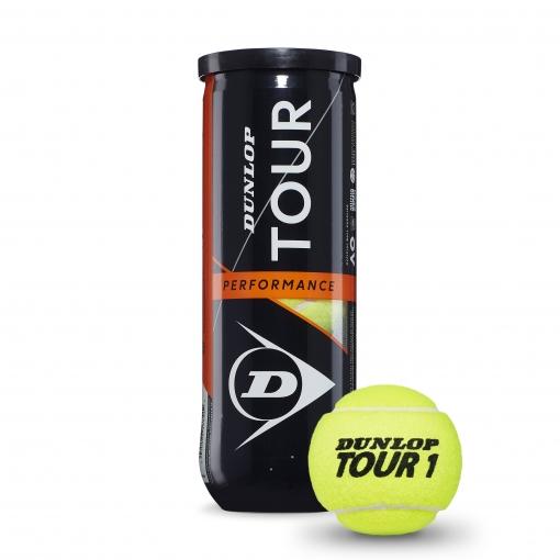 Tenisové míče DUNLOP Tour Performance 3 ks