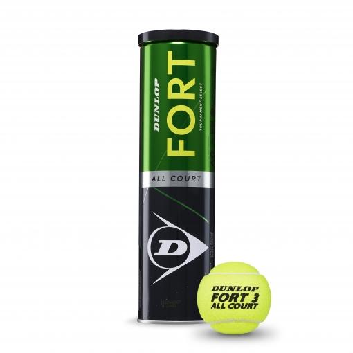 Tenisový míč DUNLOP Fort All Court TS zelený 4 v dóze