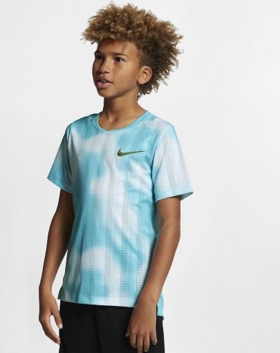 Dětské tenisové tričko Nike Instacool AQ9576-497 modré