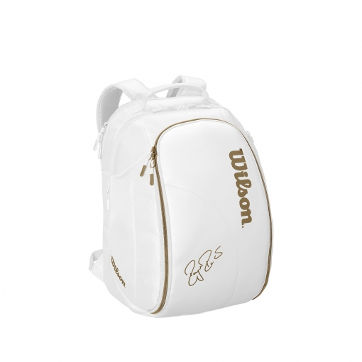Tennisrucksack Wilson Federer DNA Backpack weiss-gold