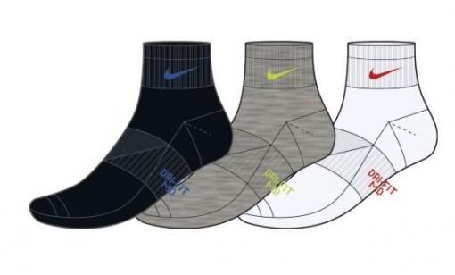 Tenisové ponožky dětské Nike Performance Cushioned DriFit  SX6844-901