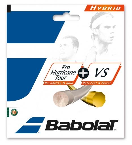 Babolat Hybrid Pro Hurricane Tour 1,25 + VS 1,3 mm Saitenset