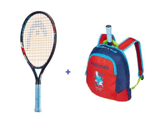 Tenisový set Head 21 - raketa Novak 21 + dětský batoh Novak 2019