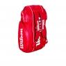 Tenisový bag Wilson Tour V 9 Pack červený
