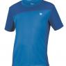 Dětské tenisové tričko Wilson Rush Colorblock Crew modré WR2015550