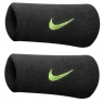 Nike Swoosh Wristbands schwarz mit neon gelb