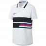 Dětské tenisové tričko Nike Advantage Polo AR2381-100 bílé