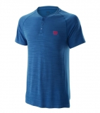 Tenisové tričko Wilson Competition Seamless Henley T-Shirt WRA773701