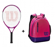 Tenisový set Wilson 21 - Wilson Ultra Pink 21  + Wilson Youth Backpack růžový