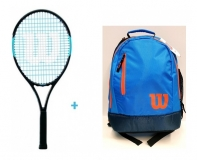 Tenisový set Wilson 25 2019- Wilson Ultra Team 25  + Wilson Youth Backpack modro-oranžový