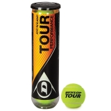 Tennisbälle DUNLOP Tour Performance 4er Dose