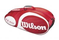 Tenisový bag Wilson Team 6 pack  červený