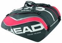 Tenisový bag Head Tour Team 12R Monstercombi  šedo-červený