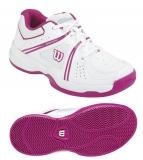 Kinder Tennisschuhe Wilson NVISION Envy JUNIOR weiss-rosa