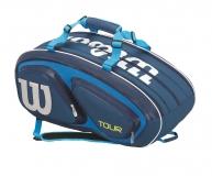 Tenisový bag Wilson Tour V 15 Pack modrý