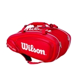 Tennisbag Wilson Tour V 9 Pack rot