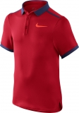 Jungen Tennis T-Shirt Nike Solid Polo 724435-657 rot