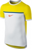 Dětské tenisové tričko Nike Challenger Premier Rafa Crew 802145-741 žluté