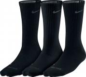 Tenisové ponožky Nike DriFit Cotton SX4831-001 tenké, černé