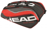 Tennistasche  Head Tour Team 12R  Monstercombi schwarz / rot
