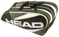 Tenisový bag Head Elite 12R Monstercombi černo-bílý