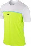Tenisové tričko Nike Challenger Premier Rafa Crew 646097-702 bílo-žluté