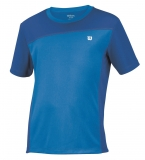 Pánské tenisové tričko Wilson Rush Colorblock Crew modré, WR1051550