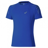 Tennis T-Shirt Asics Stripe SS TOP, 121620-8107 blau