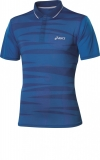 Tennis T-Shirt Asics Graphic Polo 110442-0861 blau