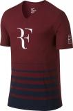 Tenisové pánské tričko Nike Court Premier RF 777865-677 vínové