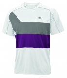 Tennis T-Shirt Wilson Ashland Colorband Crew WR1115170 weiss