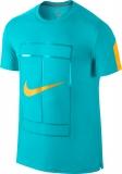 Dětské tenisové tričko Nike Court Graphic Crew 822281-418 tyrkysové